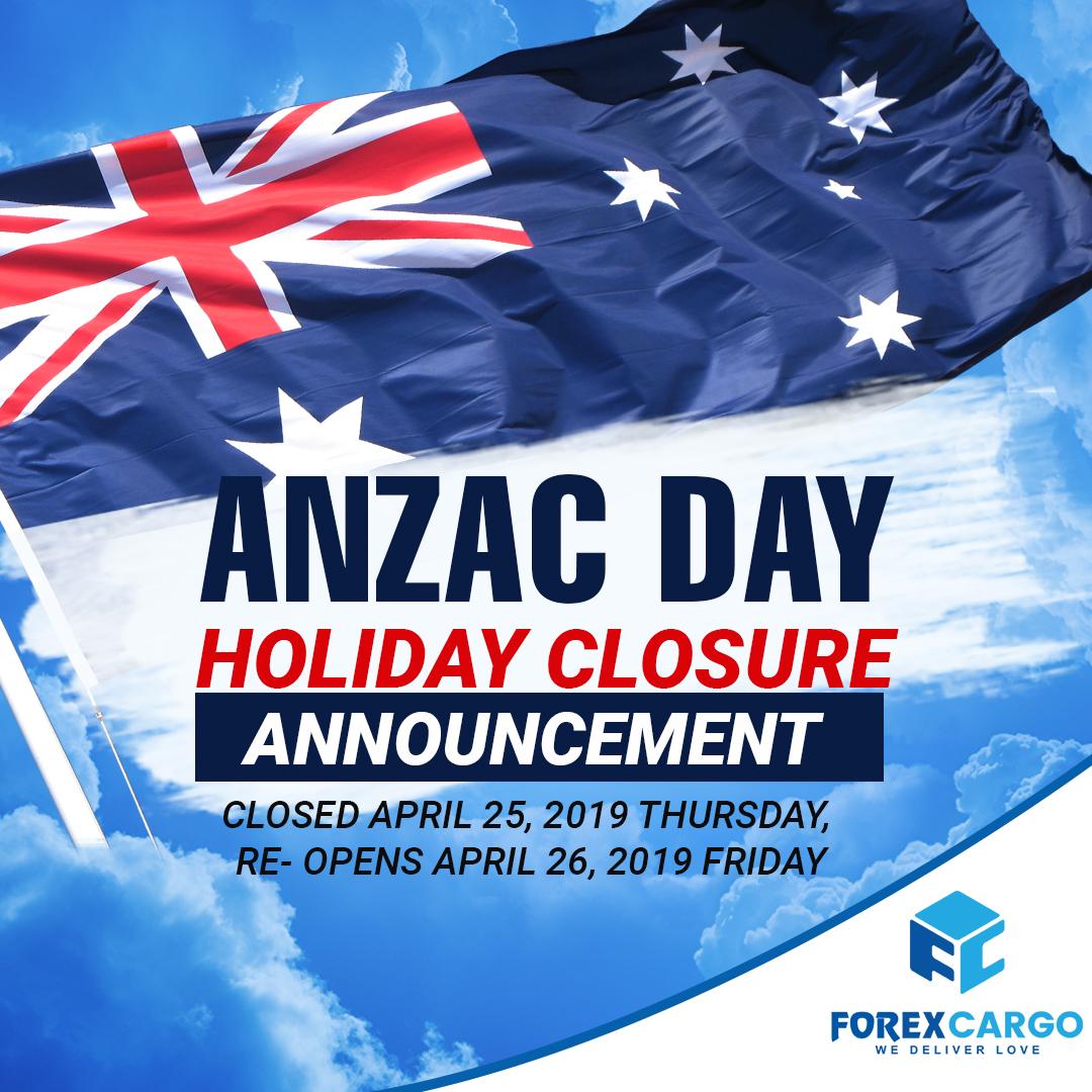 Forex Cargo Anzac Advisory